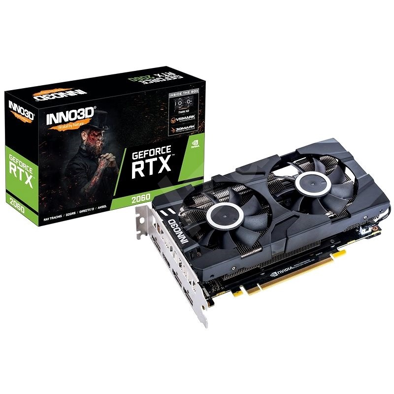 PC Components/ Video Adapter/ PCI Express 6GB/ Inno3D Video Card GeForce RTX 2060 Twin X2