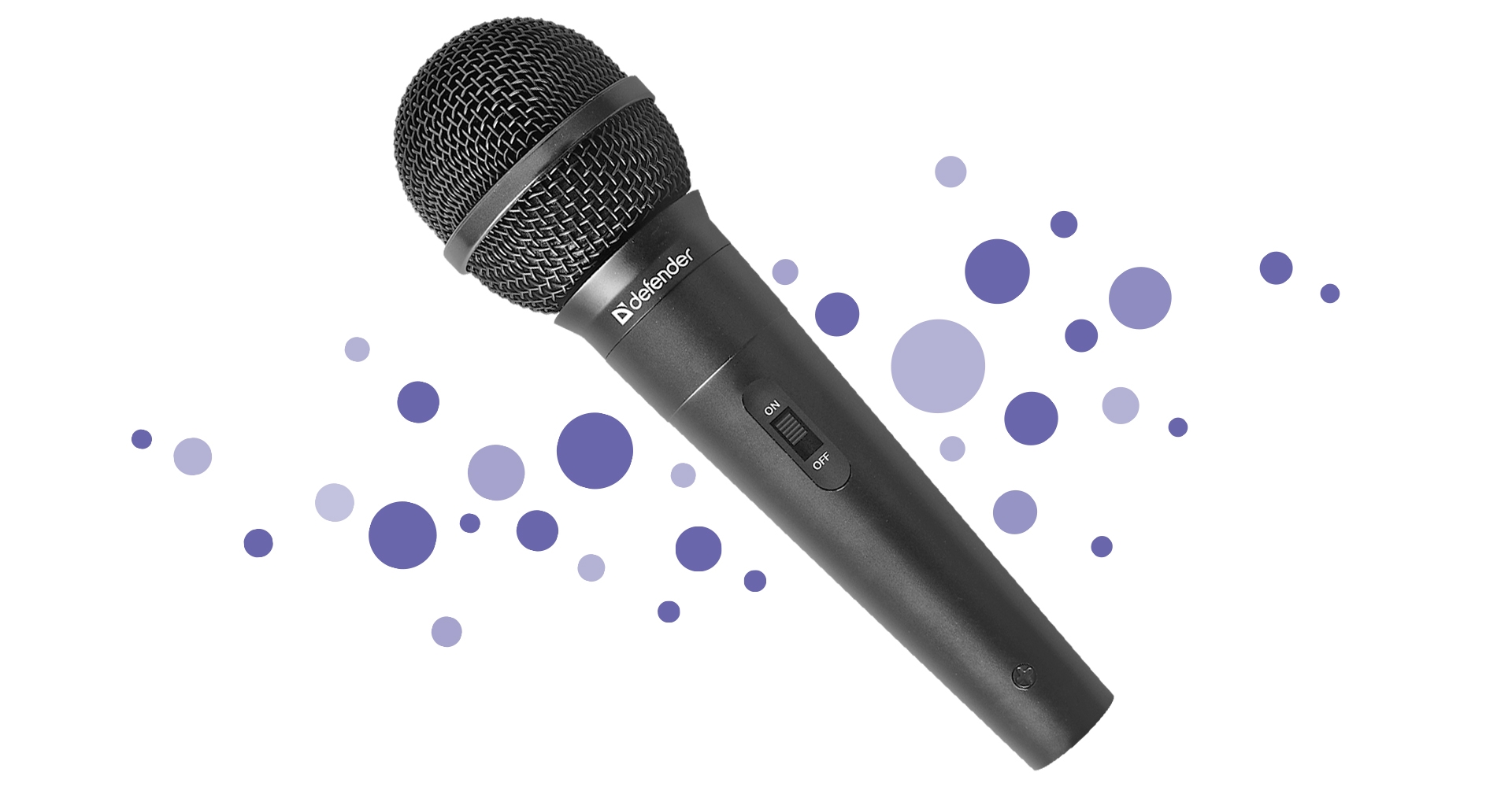 Karaoke microphone Defender MIC-130 black, cable 5 m