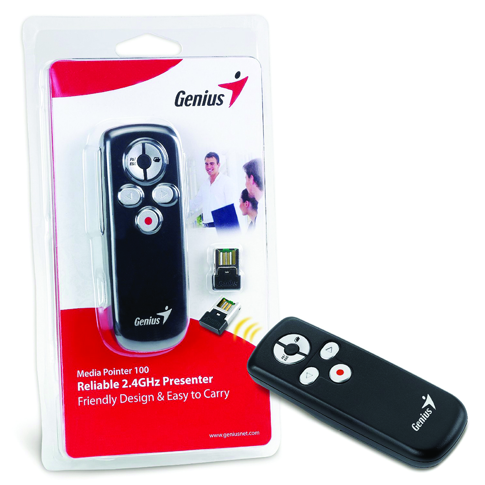 Media Pointer 100 ,Genius,Smart 2.4GHz Presenter