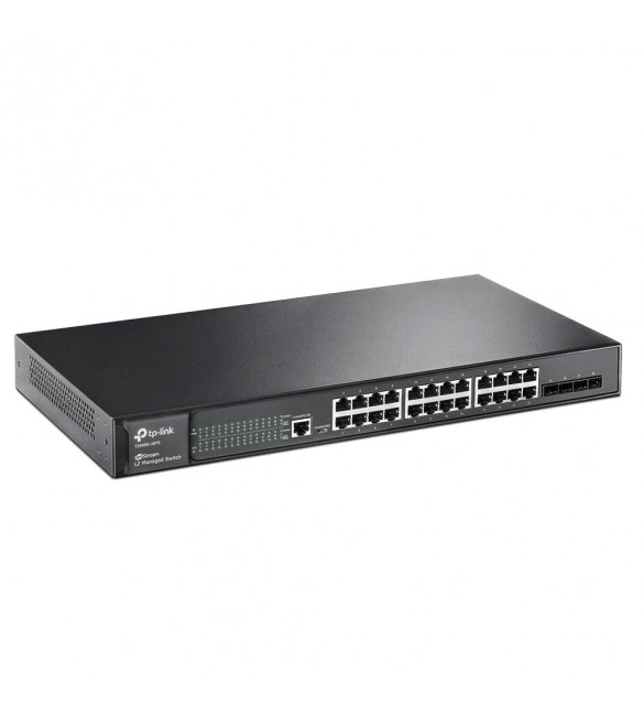 ქსელის გამანაწილებელი  T1600G-28TS, (TL-SG2424) TP-Link, JetStream 24-Port Gigabit Smart Switch with 4 SFP Slots