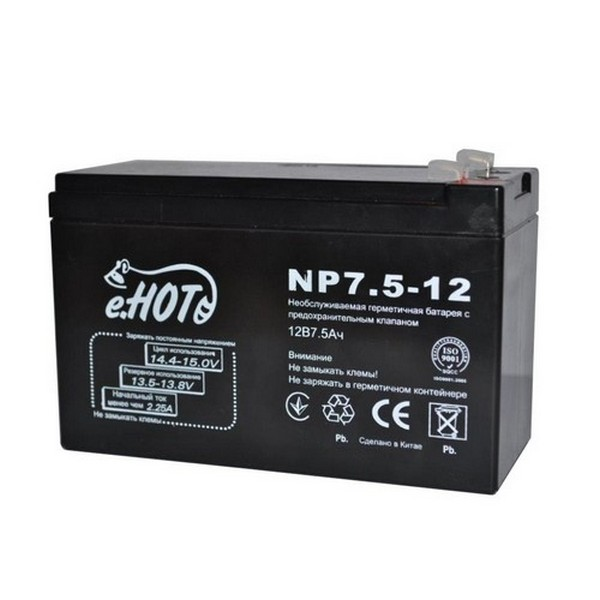 NP7.5-12 ENOT NP7.5-12 battery 12V 7.5Ah