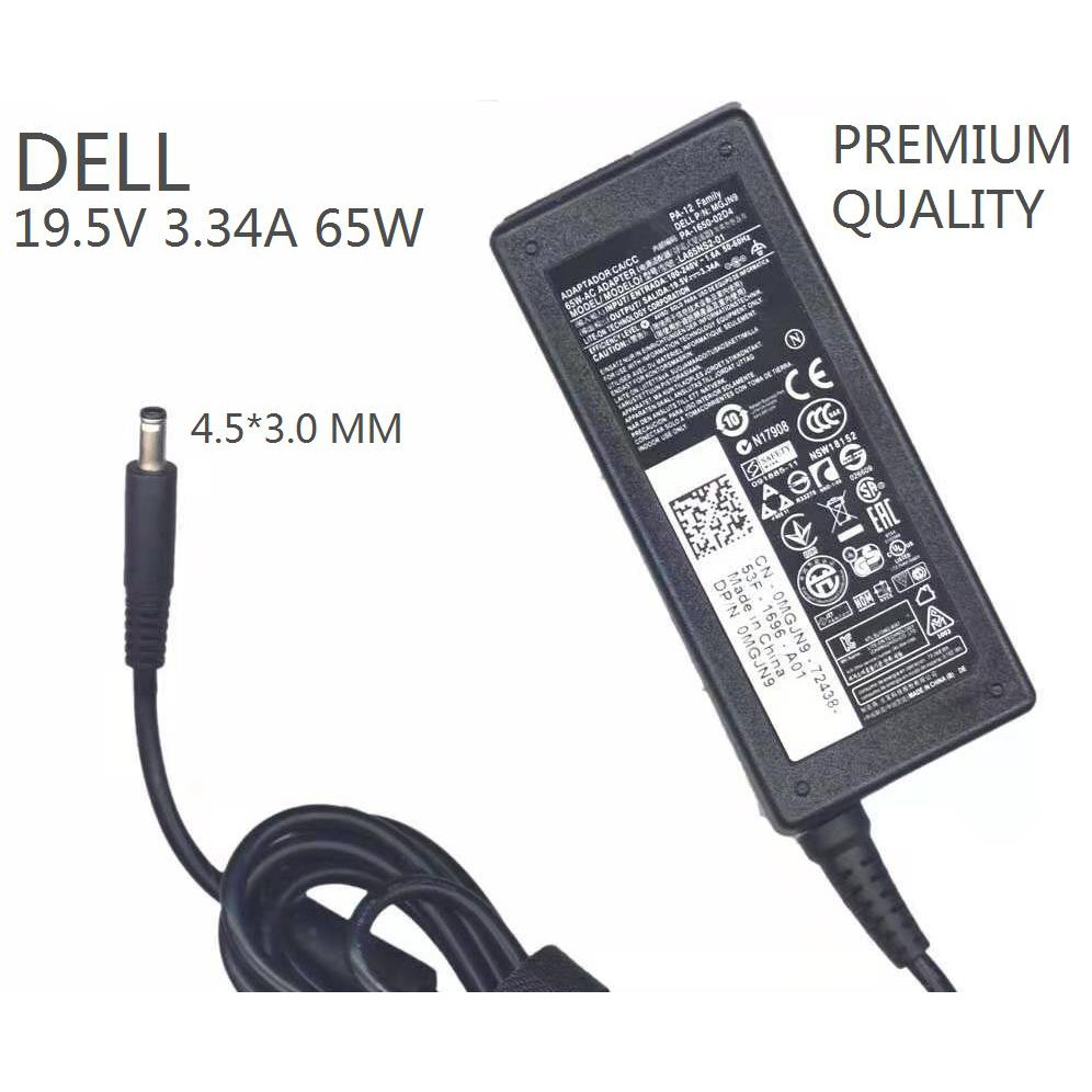 DE1953344530,DELL, Notebook Power Suply  input AC100-240v50/60Hz Output 19.5v 3.34A DC size  4.5*3.0