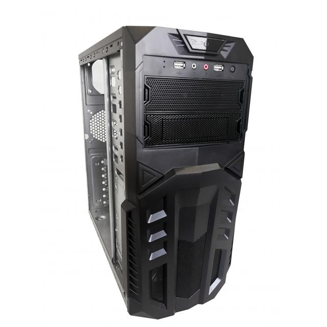 Linkworld VC056-01U, Midl tower, black, with 2 USB 2.0 x2 , mATX / ATX whit PSU 420W, 120mm/silent, TC RoHS EuP 3xSATA
