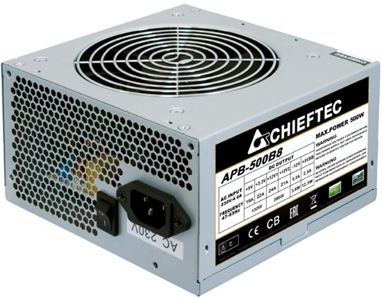 CHIEFTEC Value APB-500B8,12cm fan, a/PFC,24+4,2xPeripheral,1xFDD,3xSATA,1xPCIe