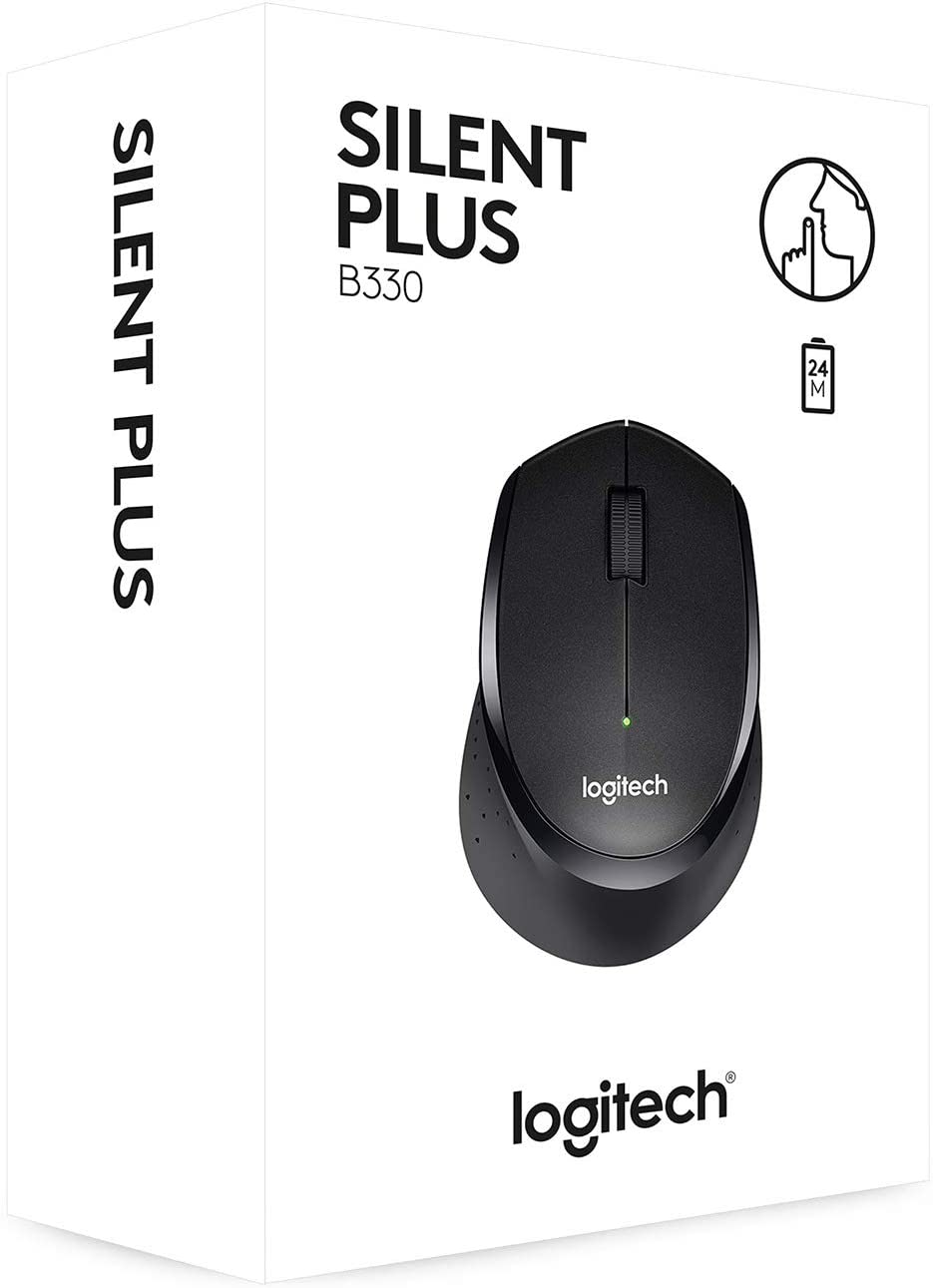 Mouse/ Logitech/Wireless Mouse  B330 Silent Plus   910-004-913   BLACK