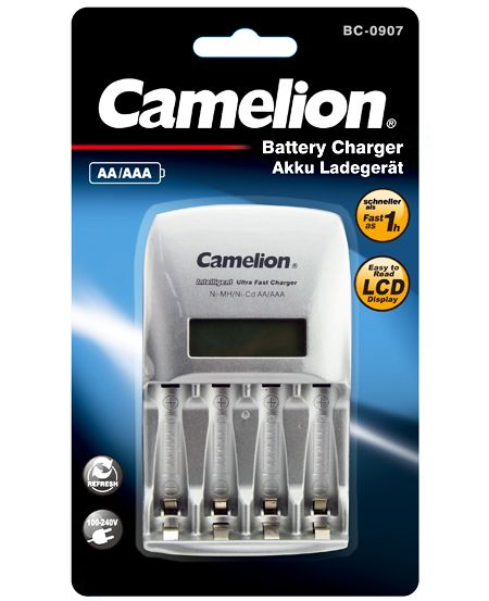 Camelion  დამტენი Smart overnight charger, BC-1009A-TUV-BLK
