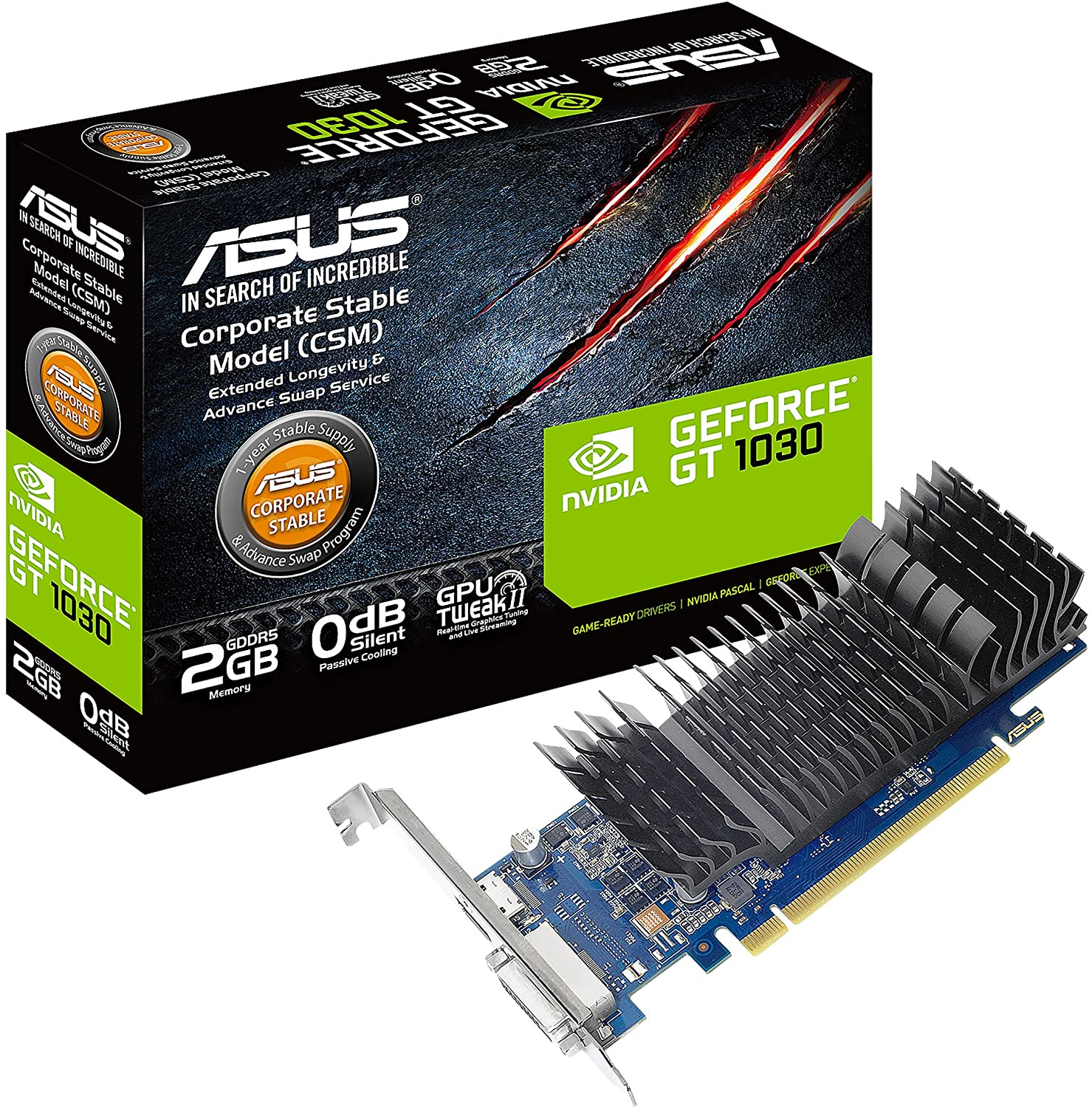 PC Components/ Video Adapter/ PCI Express 2GB/ ASUS GeForce  GT 1030 2GB GDDR5