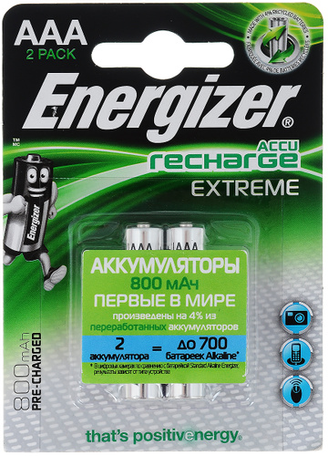 6862 Energizer Extreme AAA 800mAh აკუმულატორი, 2ც შეკრა E300324500