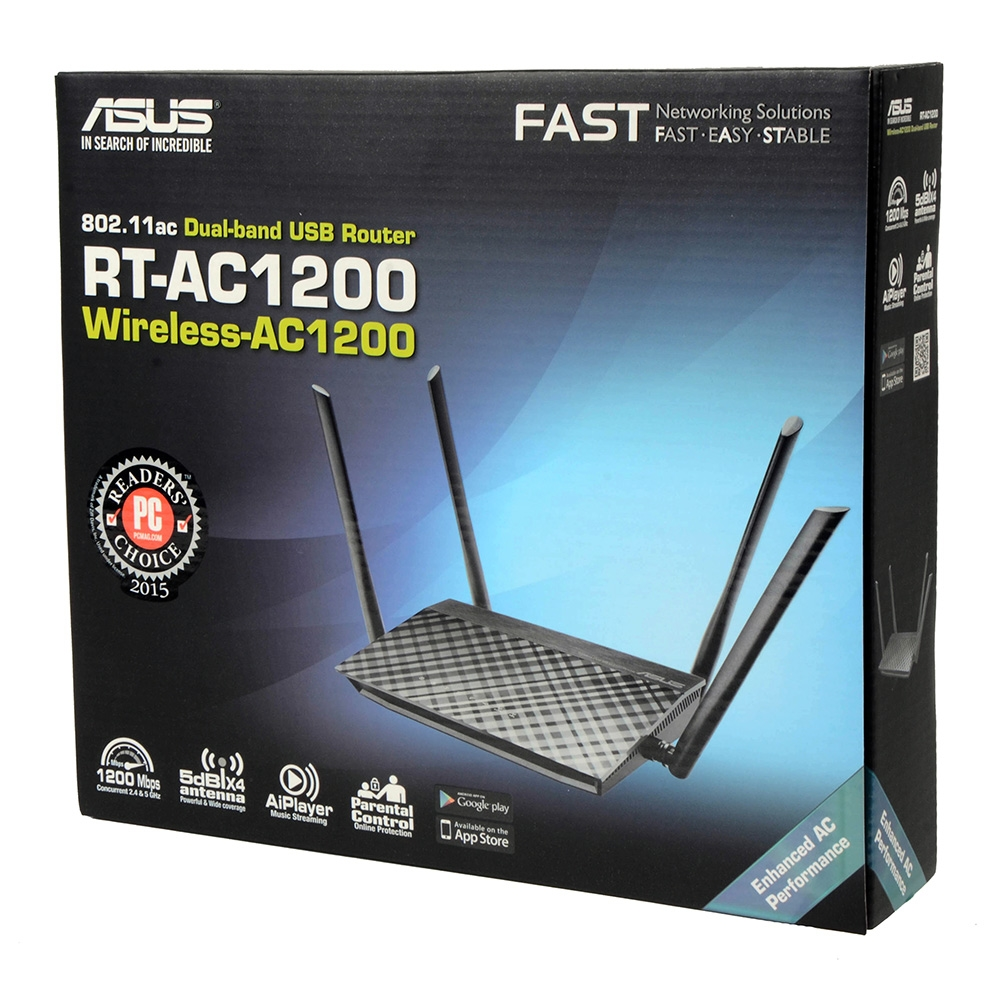 როუტერი ASUS RT-AC1200 802.11ac Dual-Band Wireless-AC1200 Router