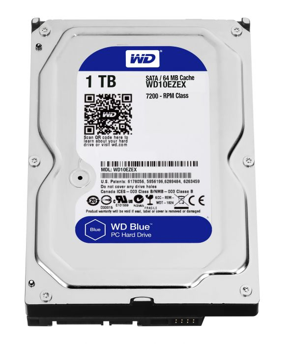 "PC Components/ HDD/ SATA/ 3.5""/ Western Digital WD10EZEX 1TB Internal Hard Drive for Desktop Blue"