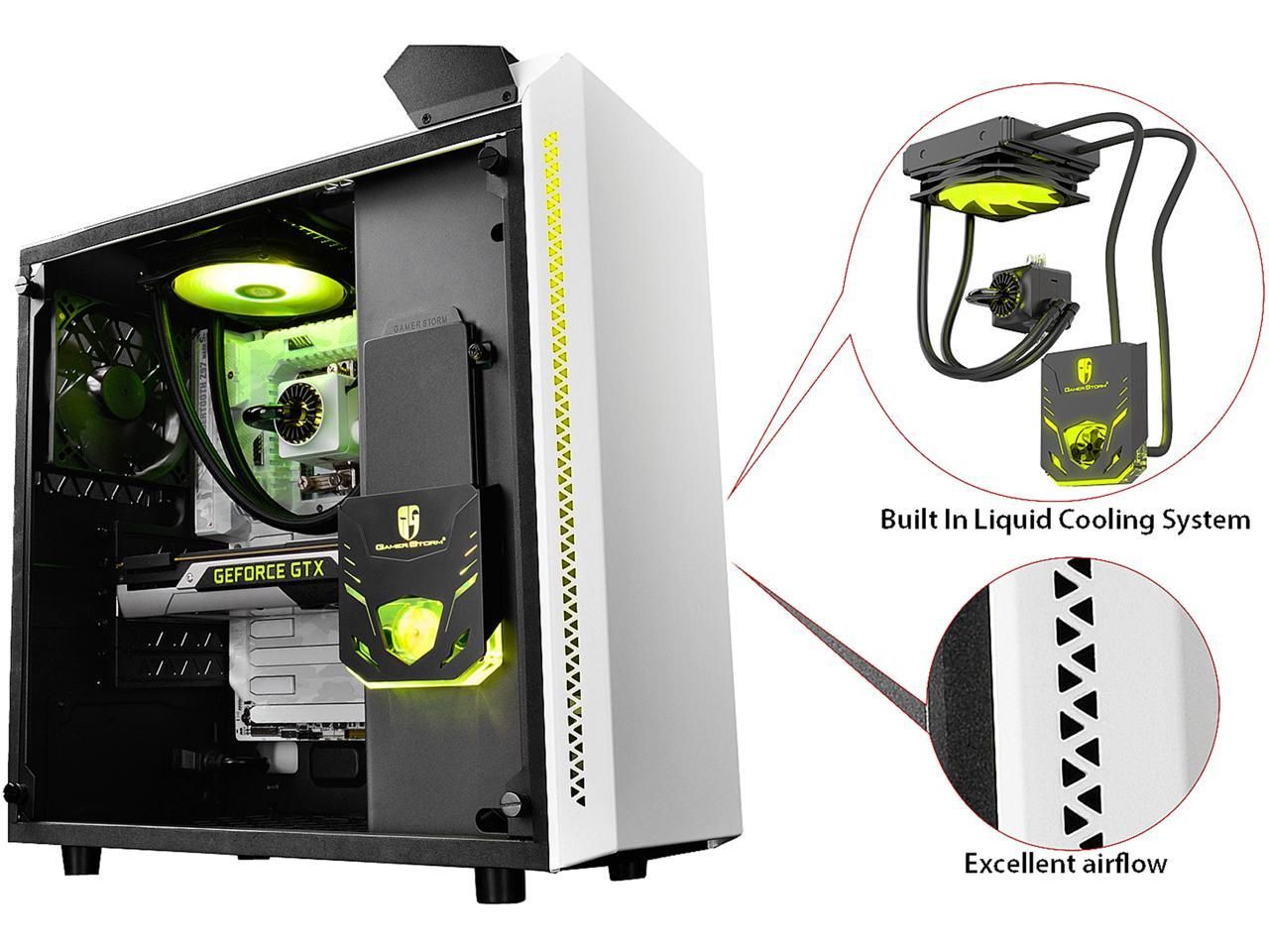 კომპიუტერის ყუთი BARONKASE LIQUID Deepcool, ATX Mid Tower with 120mm AIO water cooling system