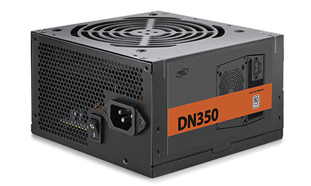 კვების ბლოკი DN350, Deepcool, 350W, 80 PLUS rated power with 120mm LED fan to power your system