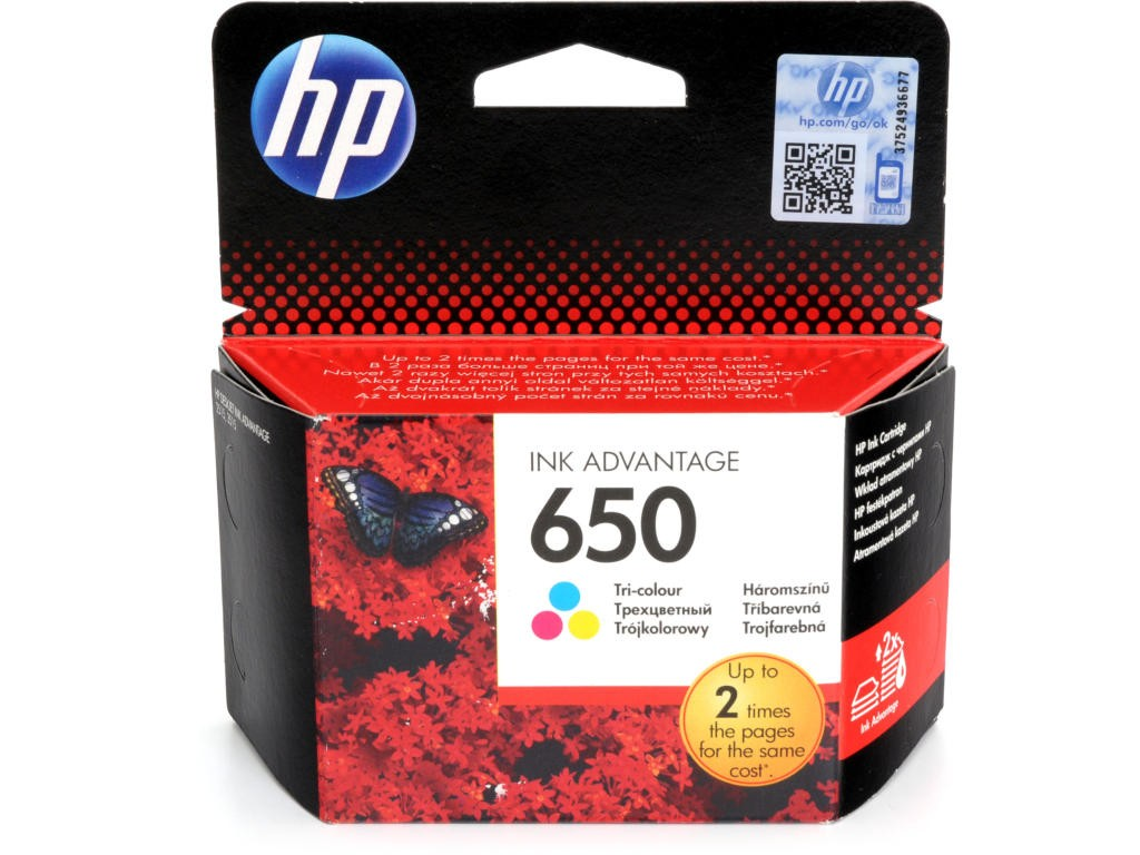 კარტრიჯი CZ102AE, HP 650 Tri-color Ink Cartridge