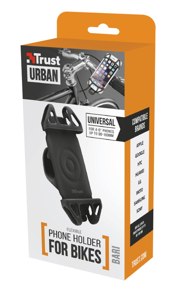 22492 TRUST BARI FLEXIBLE PHONE HOLDER FOR BIKES - BLACK
