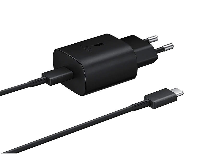 Wall Charger/ Type- C / Samsung  AC Charger EP-TA800, 25W  BLACK (EP-TA800XBEGRU)